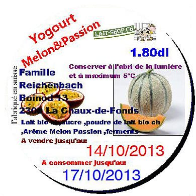Yogourt Melon & Passion