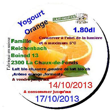 Yogourt Orange